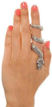 #Karmaloop                #ring                     #Accessories #Ring #Snake #Wrap #Silver             MKL Accessories Ring Snake Wrap in Silver                                     http://www.seapai.com/product.aspx?PID=621592