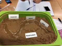 Creating rivers in the classroom, make prominent features and adapt vocabulary to suit the key stage