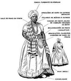 traje tradicional de uma Baiana - Google Search