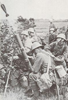 Mortar crew - Romanian Army WW2 - pin by Paolo Marzioli