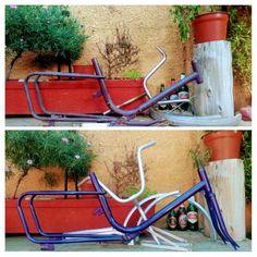 Foto Antes y Después #pinturaalhorno #bicicletasantiguas Park, Bicycle Types, Riding Bikes, Parks