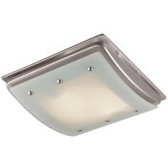 Brushed nickel bathroom vent fan light combination combo exhaust exhaust fan utilitech brushed nickel bathroom fan with light aloadofball Image collections