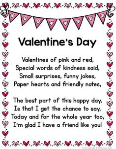 Adorable Valentines Day Kids Poems And Songs I Love You More Than