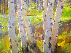 """Spring Birches 36x48"""" http://www.colinpagepaintings.com"""