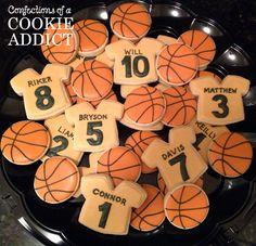 Basketball Cookie Platter