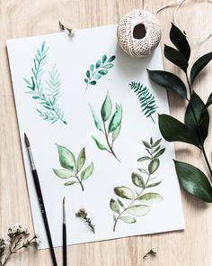 @leanna.earle – Botanical watercolour