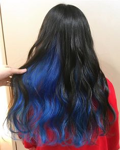 Under Hair Dye, Under Hair Color, Blue Ombre Hair, Ombre Hair Color, Rich Brown Hair, Fantasy Hair Color, Pelo Vintage, Underlights Hair, Kylie Hair