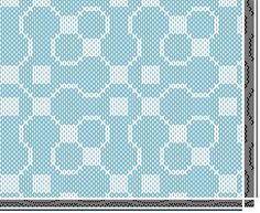 Trellis draft in Summer and Winter by Amanda Cutler at Weave-Away Blog. The original Trellis draft was a Bertha Grey Hayes overshot pattern.   http://weave-away.blogspot.cz/search?updated-max=2011-10-10T06:56:00-07:00&max-results=10&reverse-paginate=true&m=1