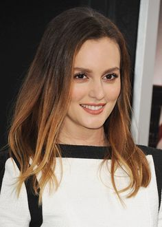 Leighton Meester embraces the ombre hairstyle
