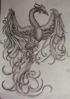 Image detail for -phoenix_tattoo_design_by_tattoosuzette-d41oz7c.jpg