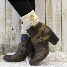 ASPEN boot cuffs - ivory