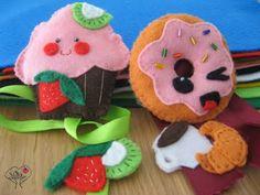 donut and muffin kawaii felt