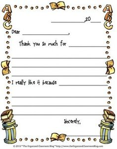 thank you note is perfect for students to say thanks for a guest ...