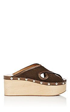 Zipla Suede Clog Sandals