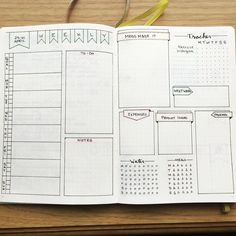 Awesome weekly spread I'd love to tinker and try!