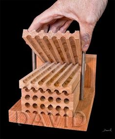 Dismountable insect nesting aid made of stacked groove boards, as used in commercial mowing. (insect hotel, insect nestin … - All About