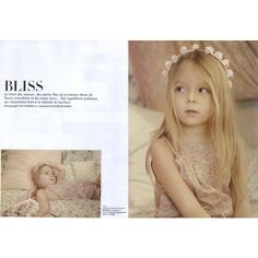 L'Officiel Enfant Editorial Bliss, Spring/Summer 2010 Shot #1 - MyFDB ❤ liked on Polyvore featuring backgrounds, editorials and kids
