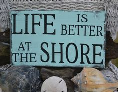 Beach Sign,  Shore Sign,  Coastal Nautical Decor Wood Sign by CarovaBeachCrafts  FB - Carova Beach Crafts