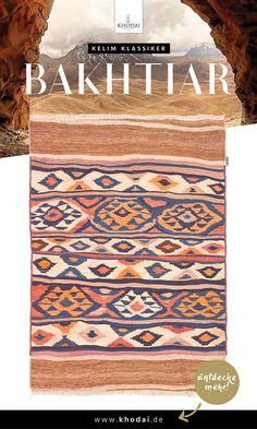 Nomadenkelim Webteppich Bakhtiar hell von KHODAI-Handmade Carpets