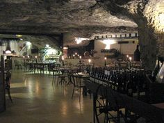 The cave restaurant in Saskatoon has nothing on La Cave aux Fouées in France. There's still a troglodyte village in the Loire Valley where people live in cave houses (like this restaurant) because they stay the same temperature ALL YEAR ROUND! (Which is about 18 degrees Celsius). Good food and definitely a unique experience.