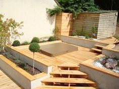 terrasse bois jacuzzi