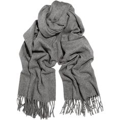 Acne Canada fringed wool scarf ❤ liked on Polyvore