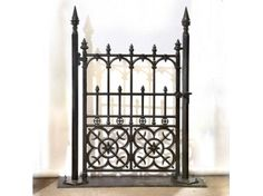 A Stunning Collection of beautiful English style Cast Iron Garden Gates by Heritage Cast Iron. Iron Garden Gates at Unbeatable Prices Delivered Across the USA. Cast Iron Gates, Wrought Iron Gates, Iron Garden Gates, Yard Design, Porch Ideas, Fencing, Blacksmithing, Garden Inspiration, Front Porch