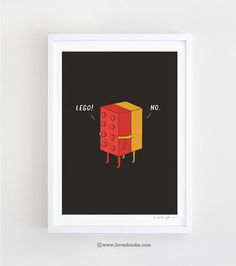 I'll never lego note card by ilovedoodle on Etsy