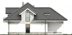 Elewacja lewa projektu Maja Gazebo, Sweet Home, Outdoor Structures, Villas, Home, Kiosk, House Beautiful, Mansions, Villa