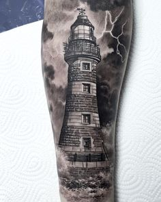 """1,087 Likes, 14 Comments - Cigla (@ciglatattoo) on Instagram: """"Probably favorite lighthouse tattoo I did so far, had to repost it :) #inked #inkedmag…"""""""
