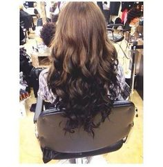 Image result for reverse ombre hairstyles for dark hair