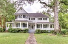 Victorian House in Minden, La., circa 1907. For sale at $300,000. Look at these porches!