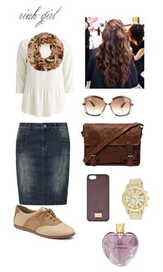 """""""Untitled #264"""" by riah-girl ❤ liked on Polyvore featuring Soyaconcept, VILA, Sperry Top-Sider, VIPARO, Tod's, Dolce&Gabbana and Vera Wang"""