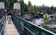 """""""Swing bridge over the St. Louis River"""" Duluth, Minnesota photo of """"Jay Cooke State Park"""" by IgoUgo travel photographer, wanderluster."""