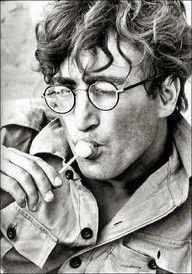 John Lennon with a lolli