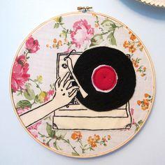 Awesome embroidery hoop art  http://www.365luckydays.blogspot.com