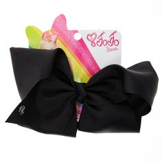 <P>Get the classic JoJo look with this super fun large black hair bow from the JoJo Siwa collection. The bow has been attached to a metal salon clip making it really easy to wear. </P><UL><LI>JoJo Siwa collection <LI>Large black bow <LI>Metal salon Clip</LI></UL><P>The JoJo Siwa signature bow collection is available at Claire's and has ...
