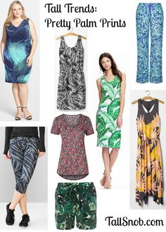 Pretty Palm prints in #tall or #plussize