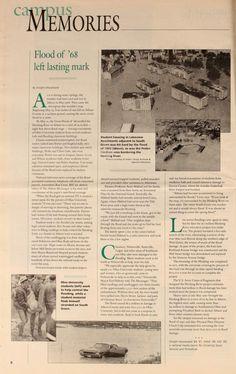"""Ohio University Today, Summer 1998. """"Flood of '68 left lasting mark."""" :: Ohio University Archives"""
