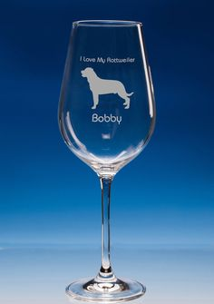 Rottweiler Dog Lover Gift Engraved Personalised Wine Glass Gift - Rottweiler Wine Glass - Birthday Gift - Christmas Gift - Dog Lover Gift