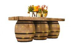 ILLUMINATED WINE BARREL TABLE LARGE