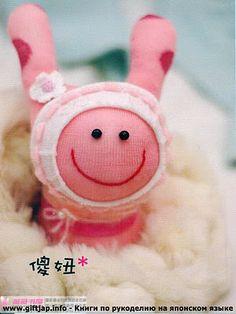 a incompleto te doy la Bienvenida Jeannine :) :) QUE BUENO QUE LLEGASTE TE ESTABA ESPERANDO sin ti mi blog est Sock Dolls, Sock Animals, Softies, Decor Crafts, Crafts To Make, Sewing Projects, Bunny, Felt, Socks