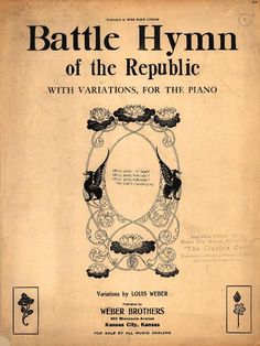Battle hymn of the republic. From Duke Digital Collections. Collection: Historic American Sheet Music