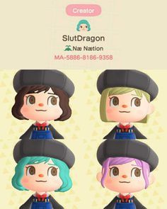 Animal Crossing Hair, Animal Crossing Qr Codes Clothes, Animal Games, New Leaf, Disney Characters, Fictional Characters, Custom Design, Disney Princess, Shadow Hunters