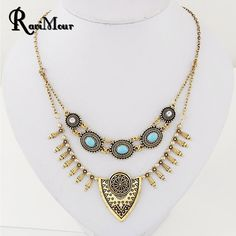 Vintage Accessories Collier Femme Choker Necklace for Women Fashion Jewelry Statement Necklaces & Pendants Turkish Boho Collares