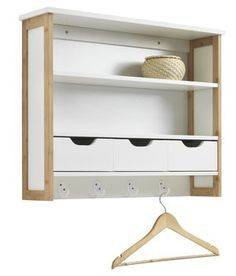 Hyllykkö BROBY 3 laatikkoa bambu/valk. JYSK