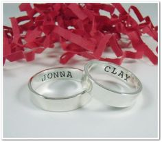 His and Her Promise Ring Set Matching by CharitableCreations