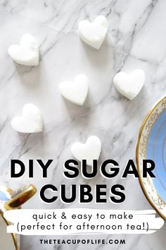 One lump or two? DIY sugar cubes are incredibly simple to make and easily spruces up any tea party with friends and family. Girls Tea Party, Princess Tea Party, Tea Party Birthday, Diy Afternoon Tea, Cube Recipe, Christmas Tea Party, Tea Party Invitations, Tea Party Bridal Shower, Sugar Cubes