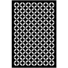 1/4 in. x 32 in. x 4 ft. Black Moorish Circle Vinyl Decor Panel