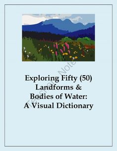 The September Giveaway! - Come one, come all! Five lucky entries will win one of my top sellers..  A GIVEAWAY promotion for Fifty (50) Landforms and Bodies of Water Workbook - Visual Dictionary from Christopher Mitchell on TeachersNotebook.com (ends on 9-16-2013)